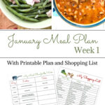 January Meal Plan Week 1 printable menu