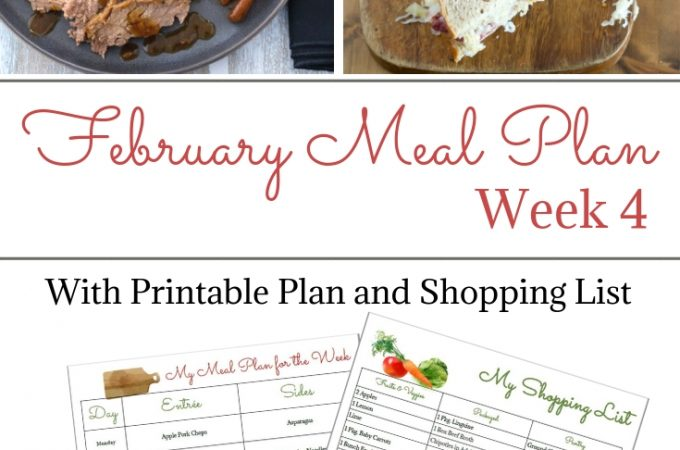 Collage photo for February Weekly Meal Plan Week 4