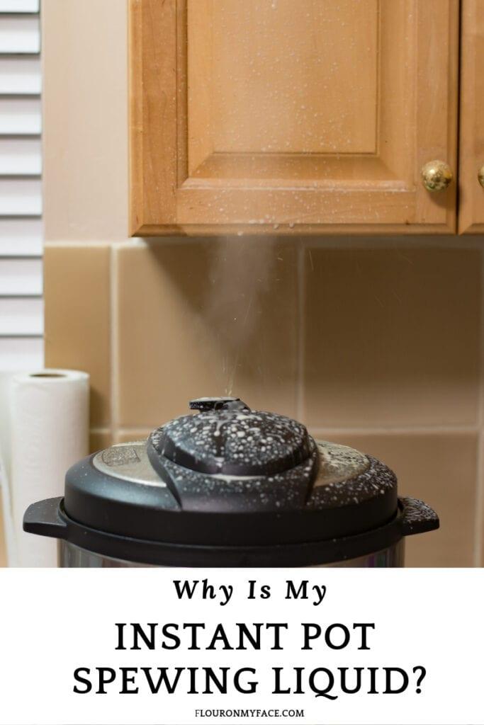 Instant Pot Spewing Thick Liquid