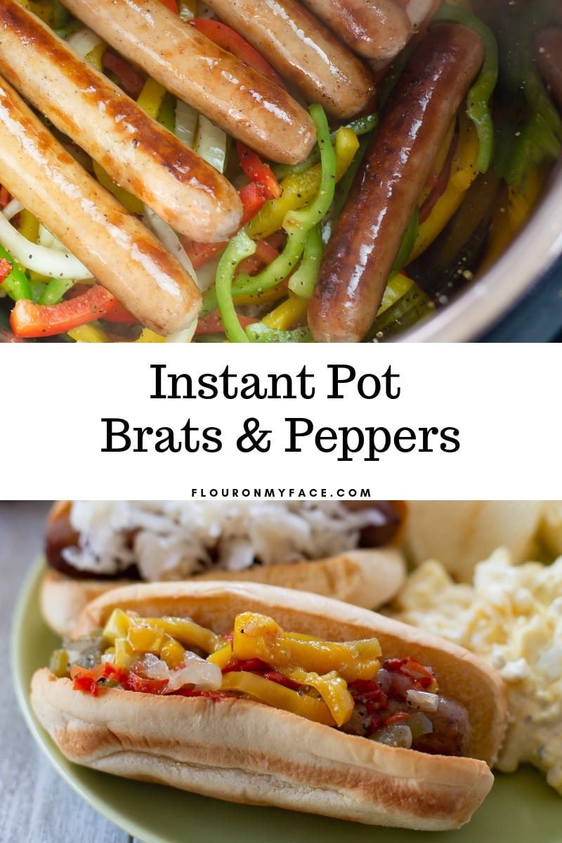 How to make Instant Pot Brats with Peppers