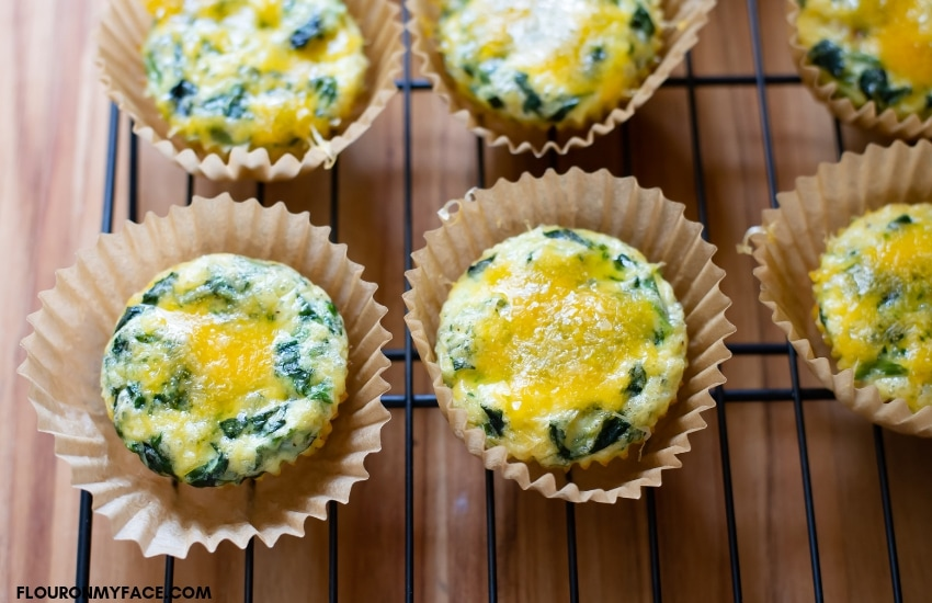 Scrambled Egg Breakfast Muffins Recipe cooling on a rack