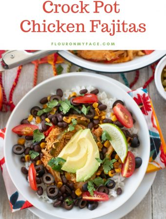 Crock Pot Chicken Fajita Bowl recipe made with easy crock pot chicken fajitas recipe