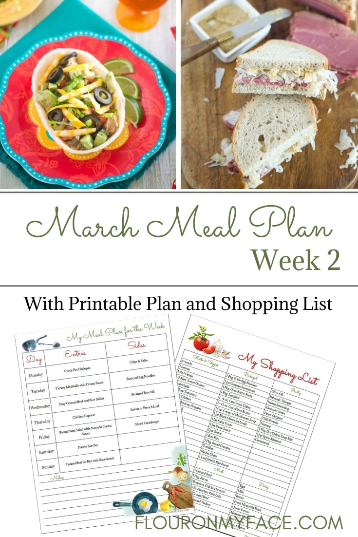 March Weekly Meal Plan 2 recipe preview photo