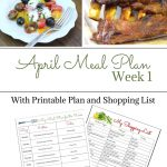 preview of April Weekly Meal Plan 1