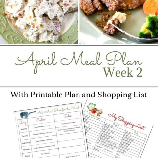 April Weekly Meal Plan 2 preview