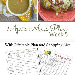 April Weekly Meal Plan 5 preview