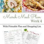 March Weekly Meal Plan 4 preview image.