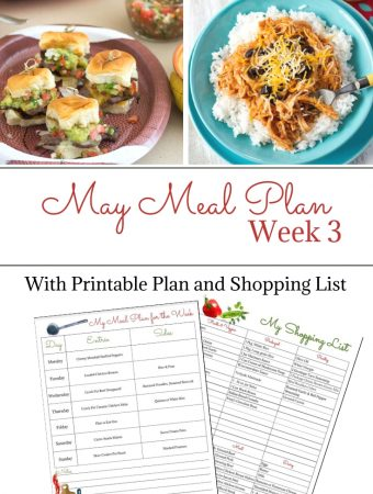 May Weekly Meal Plan 3 preview image.