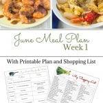 June Weekly Meal Plan 1 meal plan menu preview.