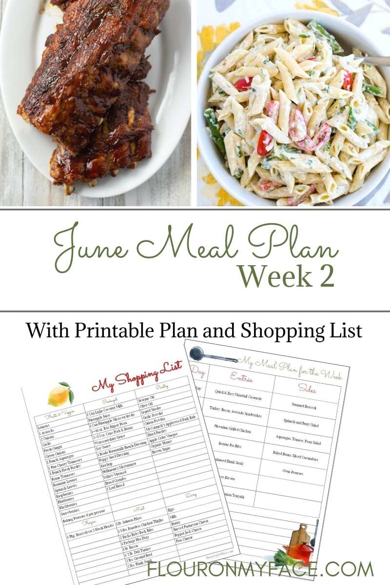 June Weekly Meal Plan 2 preview