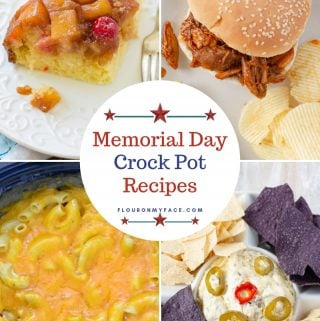 Collage photo of 4 Memorial Day Crock Pot Recipes