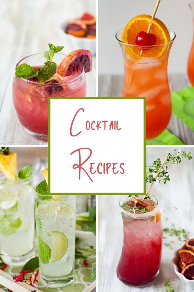 Cocktail Recipes page featured image