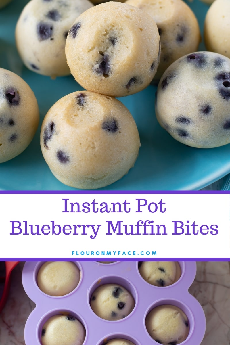 Closeup photo of Instant Pot Blueberry Muffin Bites