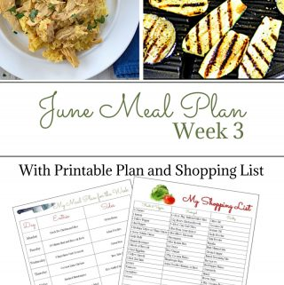 June Weekly Meal Plan 3 preview
