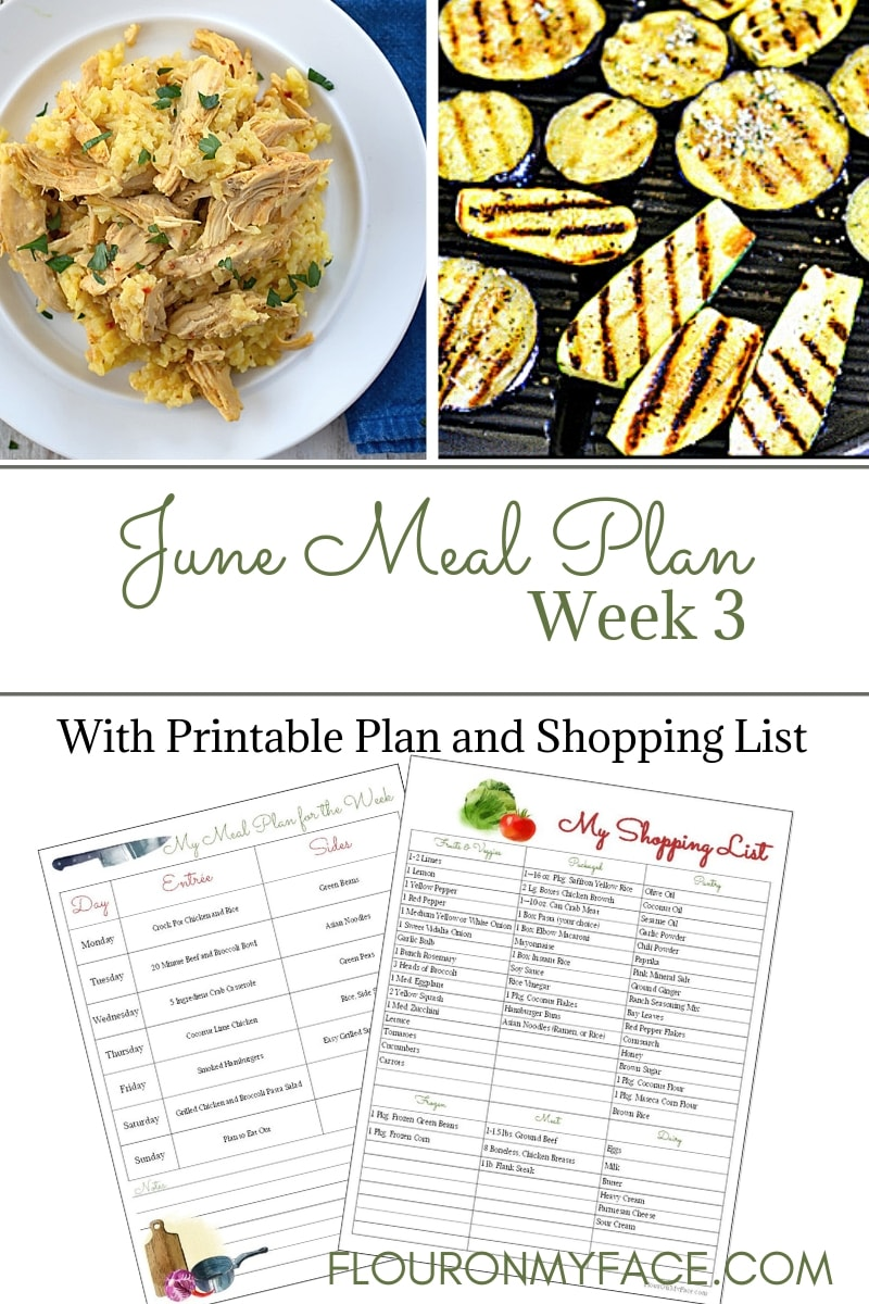 June Weekly Meal Plan 3 Flour On My Face