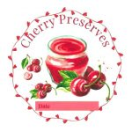 Preview of Custom Designed Cherry Preserves Canning Label