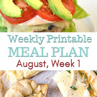 featured photo for the August Weekly Meal Plan 1 menu plan