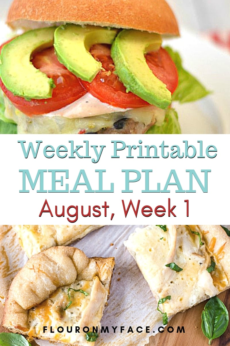 featured photo collage for August Weekly Meal Plan 1