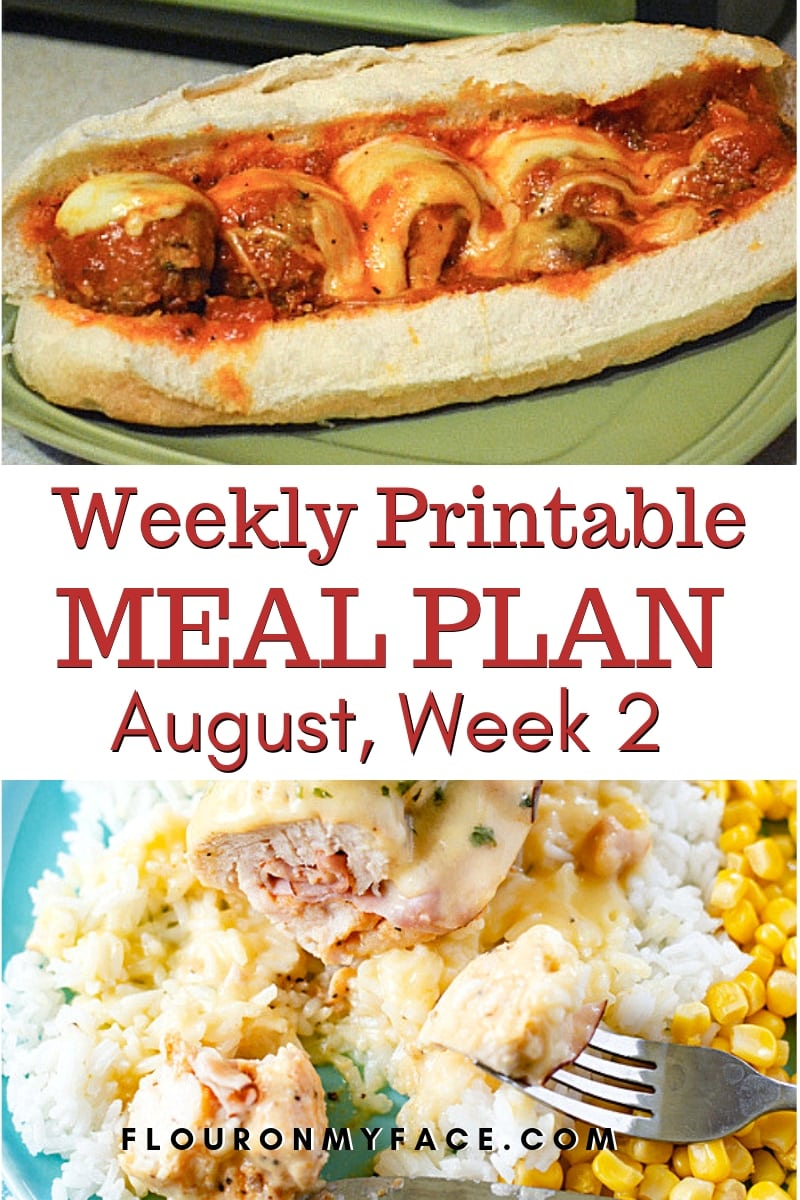 Preview image of two crock pot recipes from the August Weekly Meal Plan 2