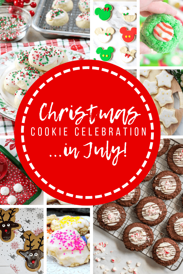 collage of Christmas in July cookie recipes