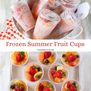 frozen fruits cups