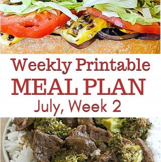 July Weekly Meal Plan 2