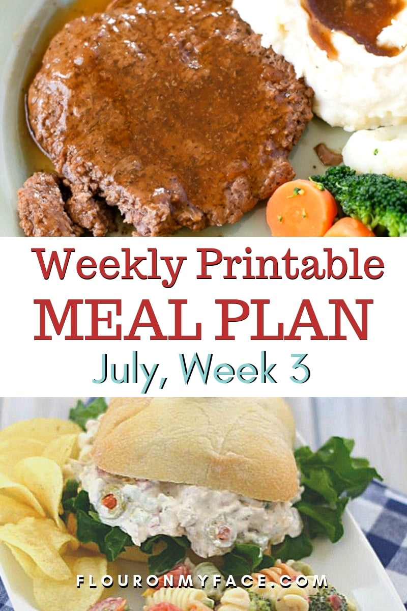 July Weekly Meal Plan 3 featured image showing two amazing meal prep recipes