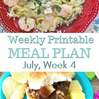 July Weekly Meal Plan 4 menu plan preview