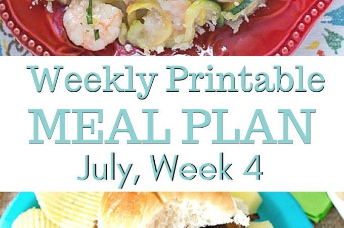 July Weekly Meal Plan 4 menu plan preview