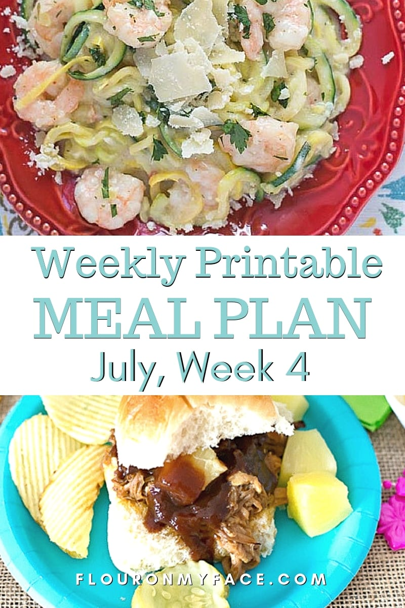 July Weekly Meal Plan 4 preview image