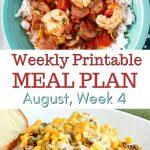 August Weekly Meal Plan 4