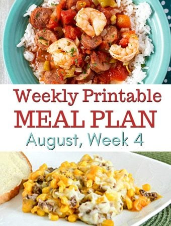 August Weekly Meal Plan 4