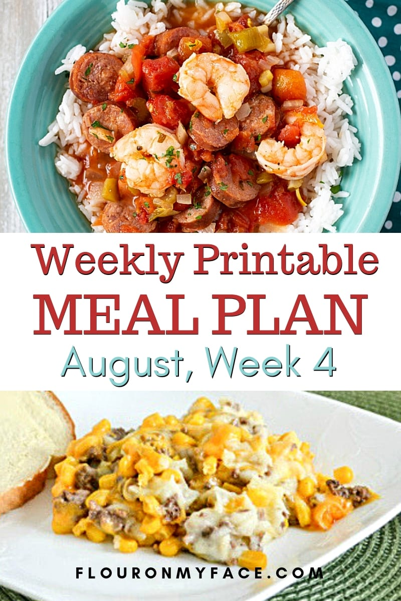 August Weekly Meal Plan 4 preview image