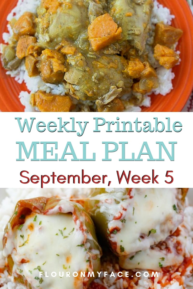 preview image for the September Weekly Meal Plan 5
