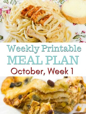 October Weekly Meal Plan 1 featured image