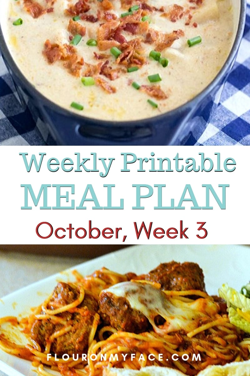 Preview image for October Meal Plan Week 3 menu
