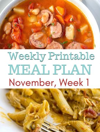 Preview image of November Weekly Meal Plan 1