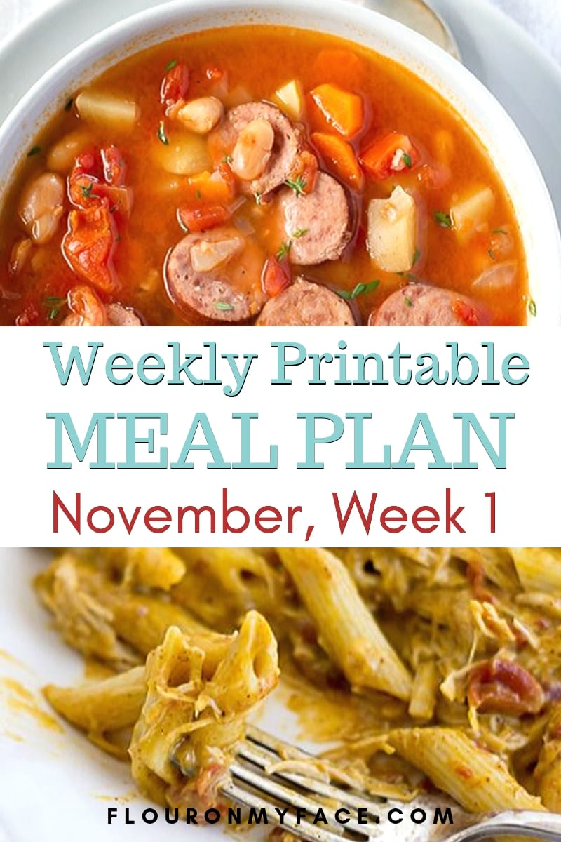 Preview image for the November Meal Plan Week 1