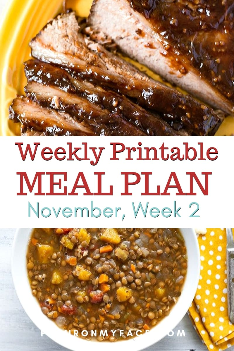 Preview image of the November Meal Plan Week 2