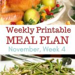 November Meal Plan Week 4 preview