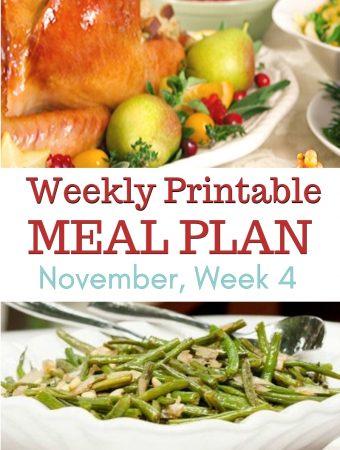 November Meal Plan Week 4 preview