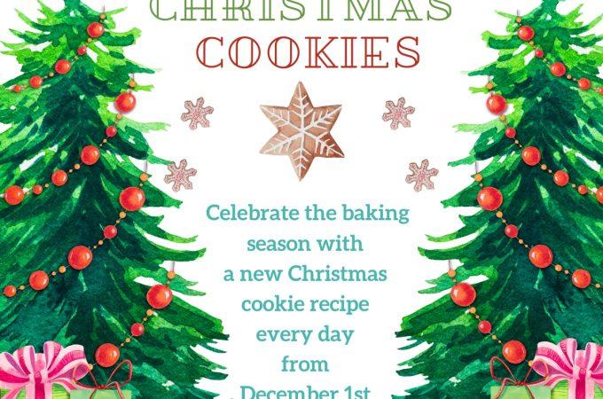 12 Days of Christmas Cookies celebration invitation