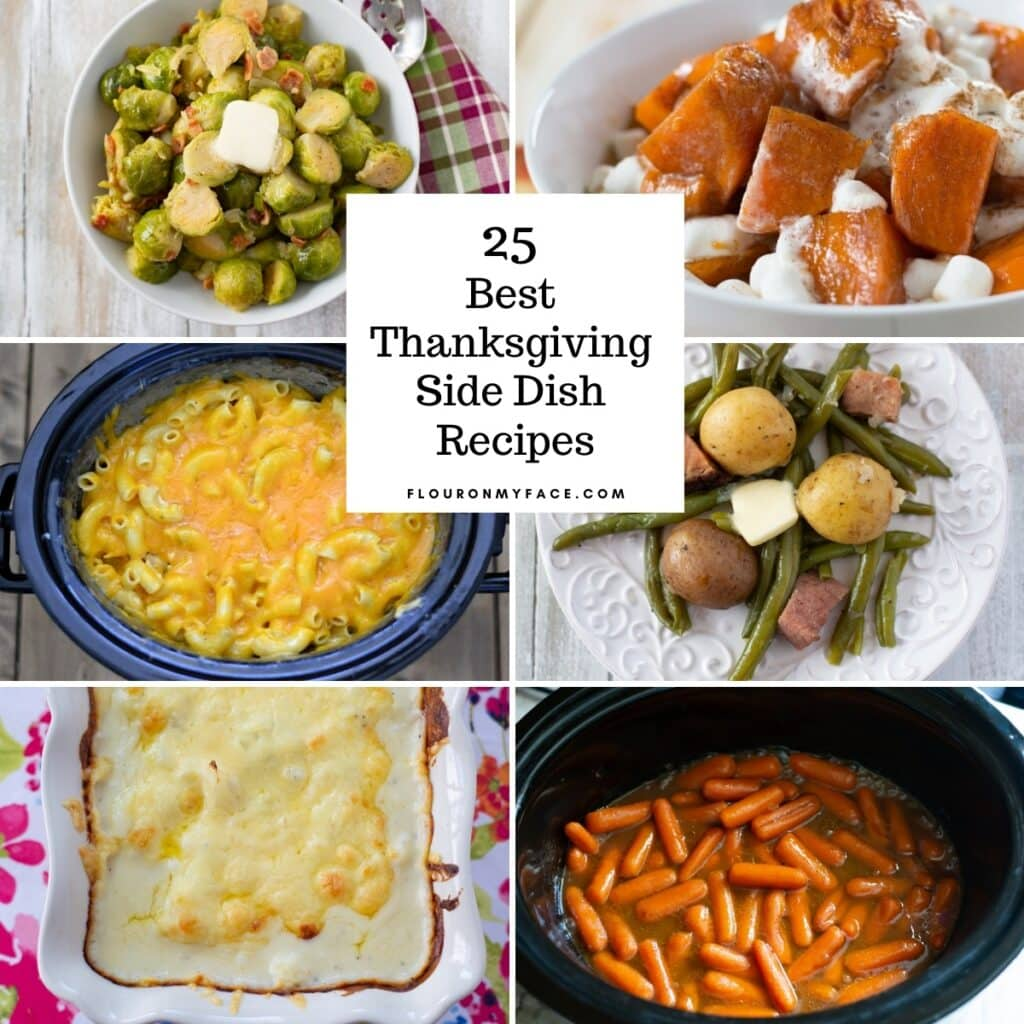 Preview image of six of the 25 Thanksgiving Side Dish Recipes