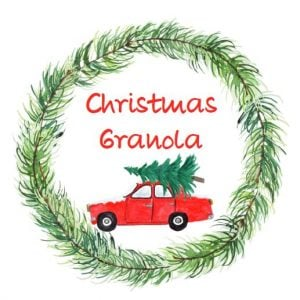Christmas Granola Rec Car Label