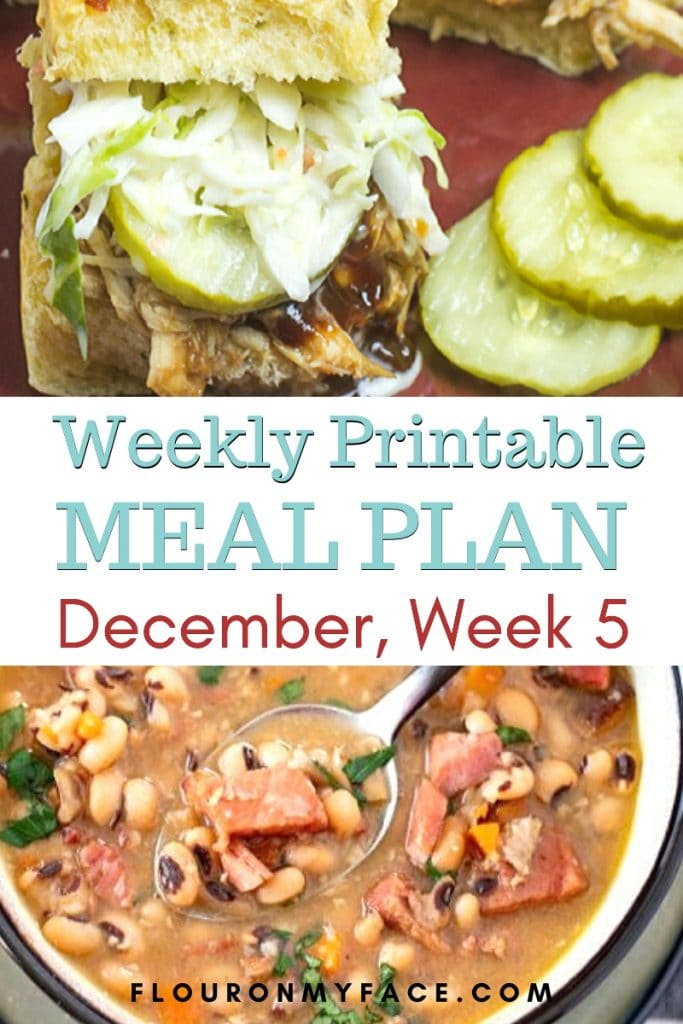 Preview image for December Meal Plan Week 5