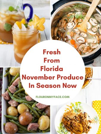 Fresh from Florida November produce in season now with recipes using each of the vegetables and fruits.