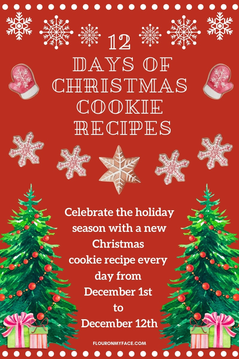 12 Days of Christmas Cookie Recipes Event announcement image.