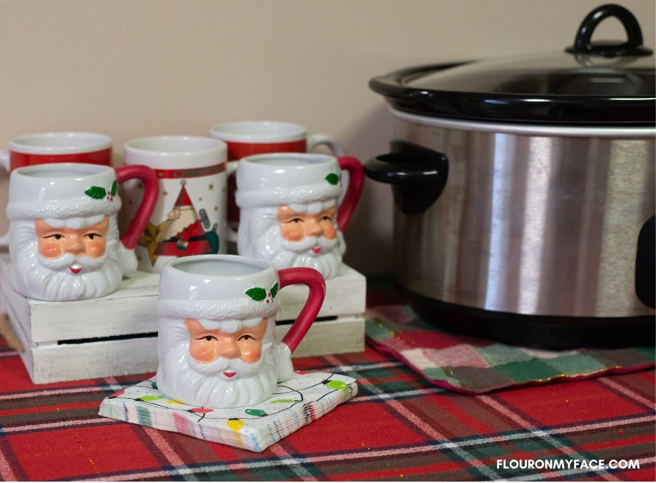 Types of Christmas mugs for your Crock Pot Hot Drinks for Christmas Bar or Hot Chocolate Bar