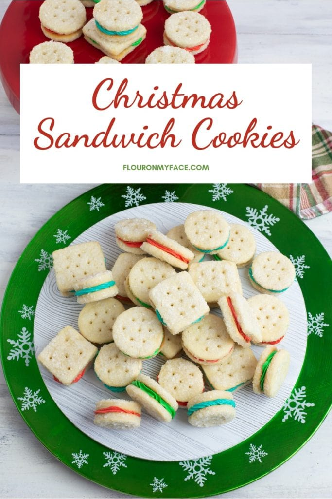 Serving platter of Christmas Sandwich Cookies