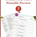 December Meal Plan Week 5 Printable Preview
